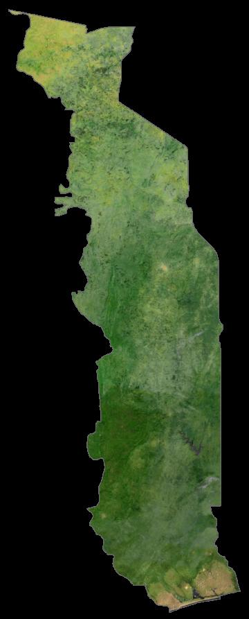 Togo Satellite Map