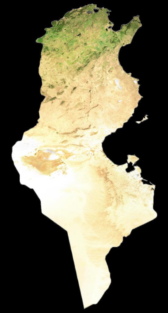 Tunisia Satellite Map