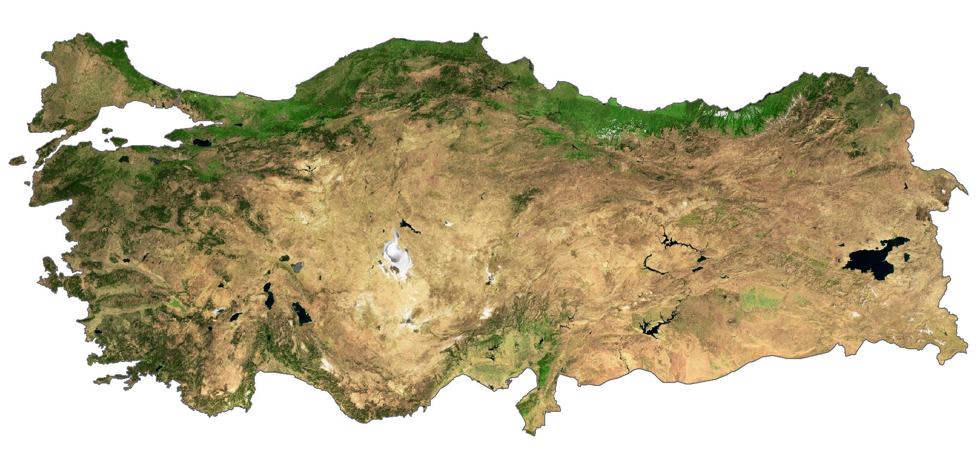 Turkey Satellite Map