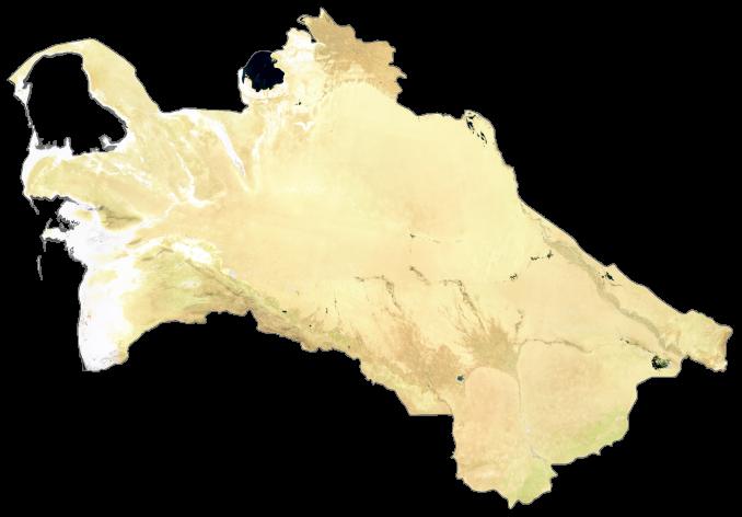 Turkmenistan Satellite Map