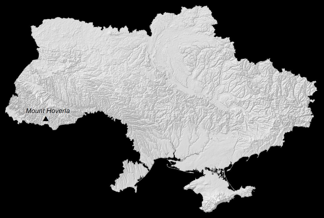 Ukraine Elevation Map