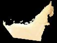 United Arab Emirates Administration Regions Map