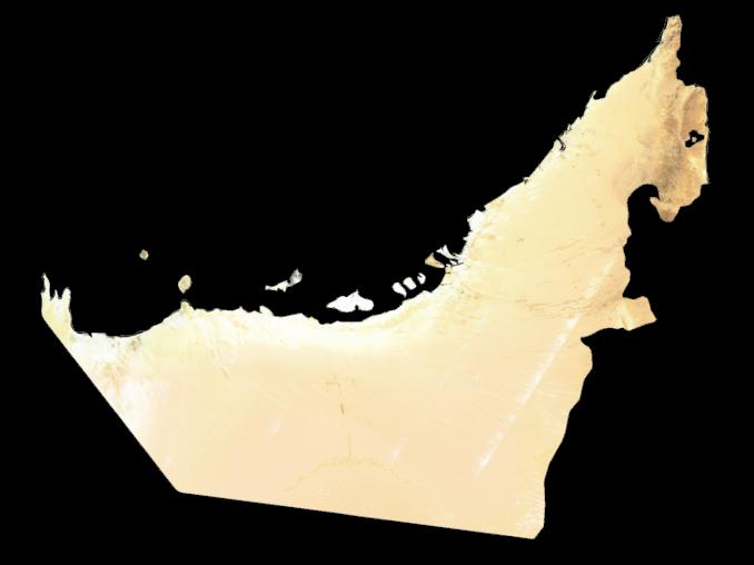 United Arab Emirates Satellite Map