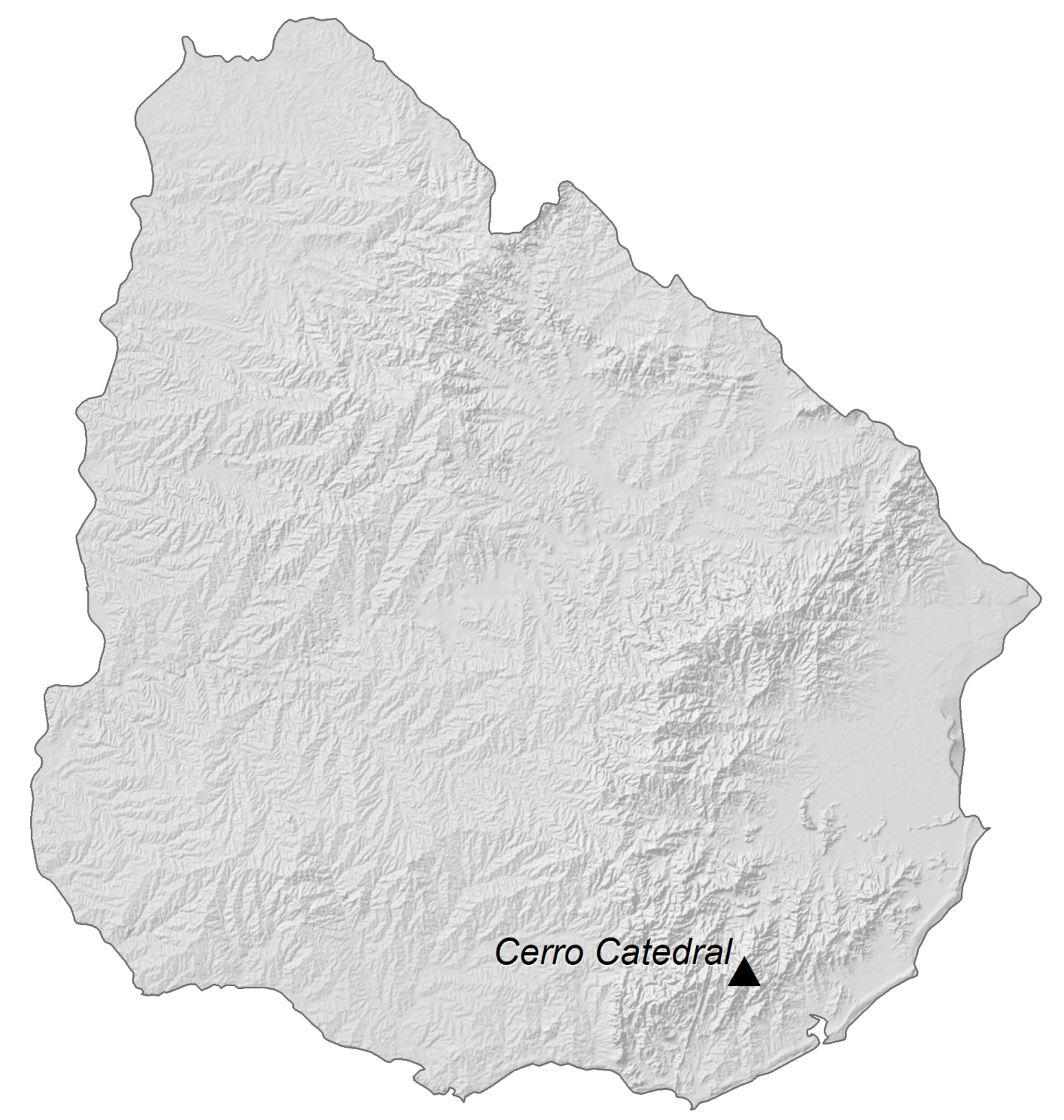 Uruguay Elevation Map