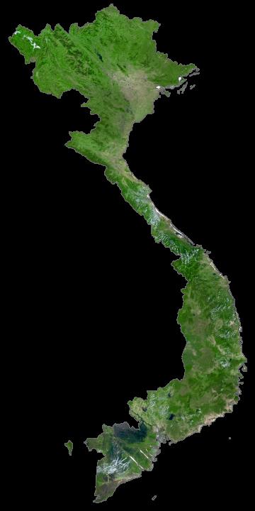 Vietnam Satellite Map