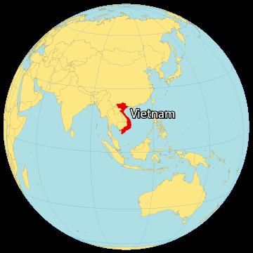Vietnam World Map