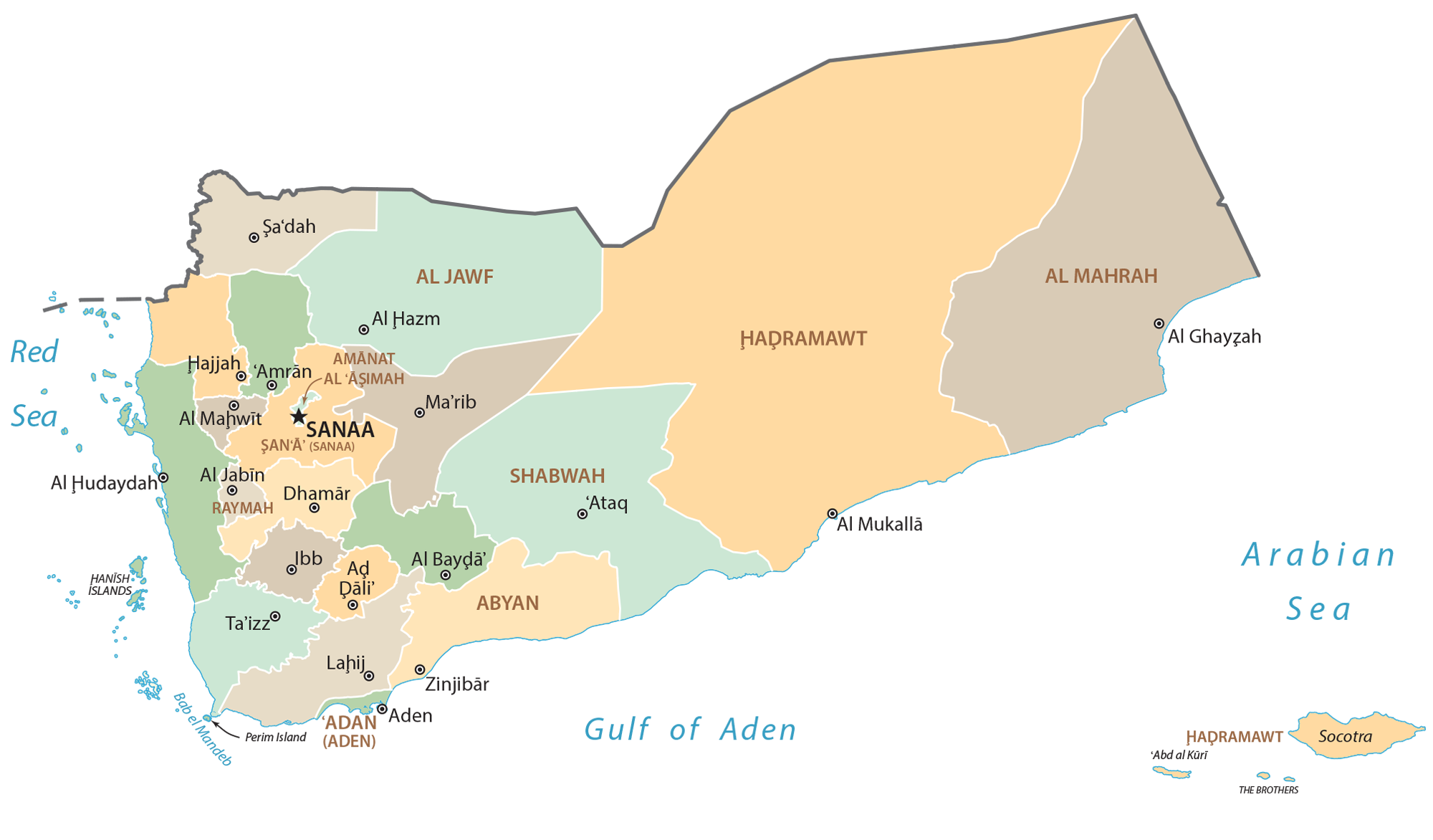Yemen Governorate Map