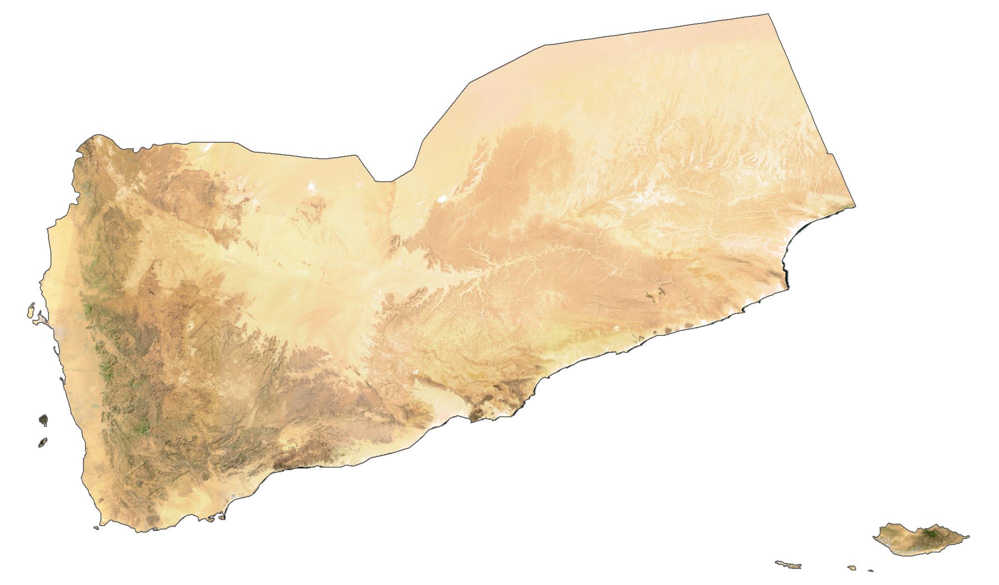 Yemen Satellite Map