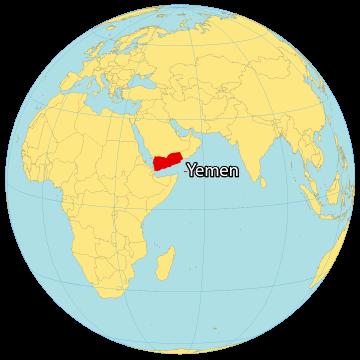 Yemen World Map