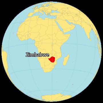 Zimbabwe World Map