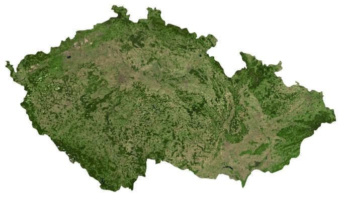 Czech Republic Satellite Map