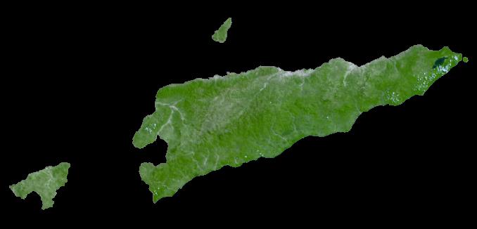 East Timor Satellite Map