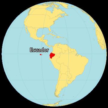 Ecuador World Map