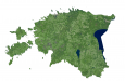 Estonia Satellite Map