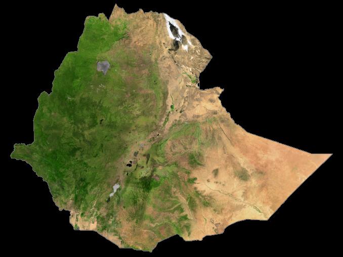 Ethiopia Satellite Map