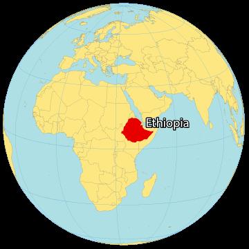 Ethiopia World Map
