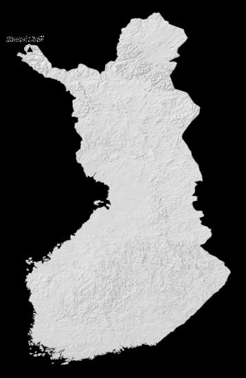 Finland Elevation Map