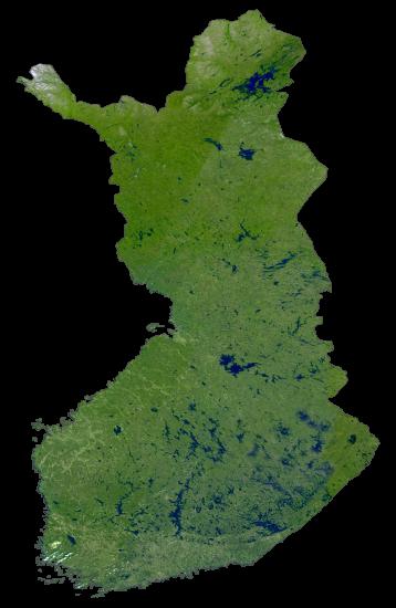Finland Satellite Map