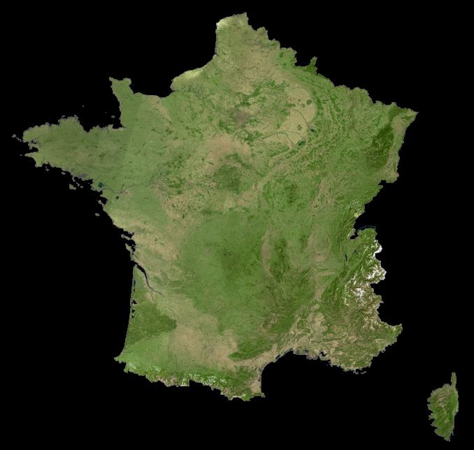 France Satellite Map