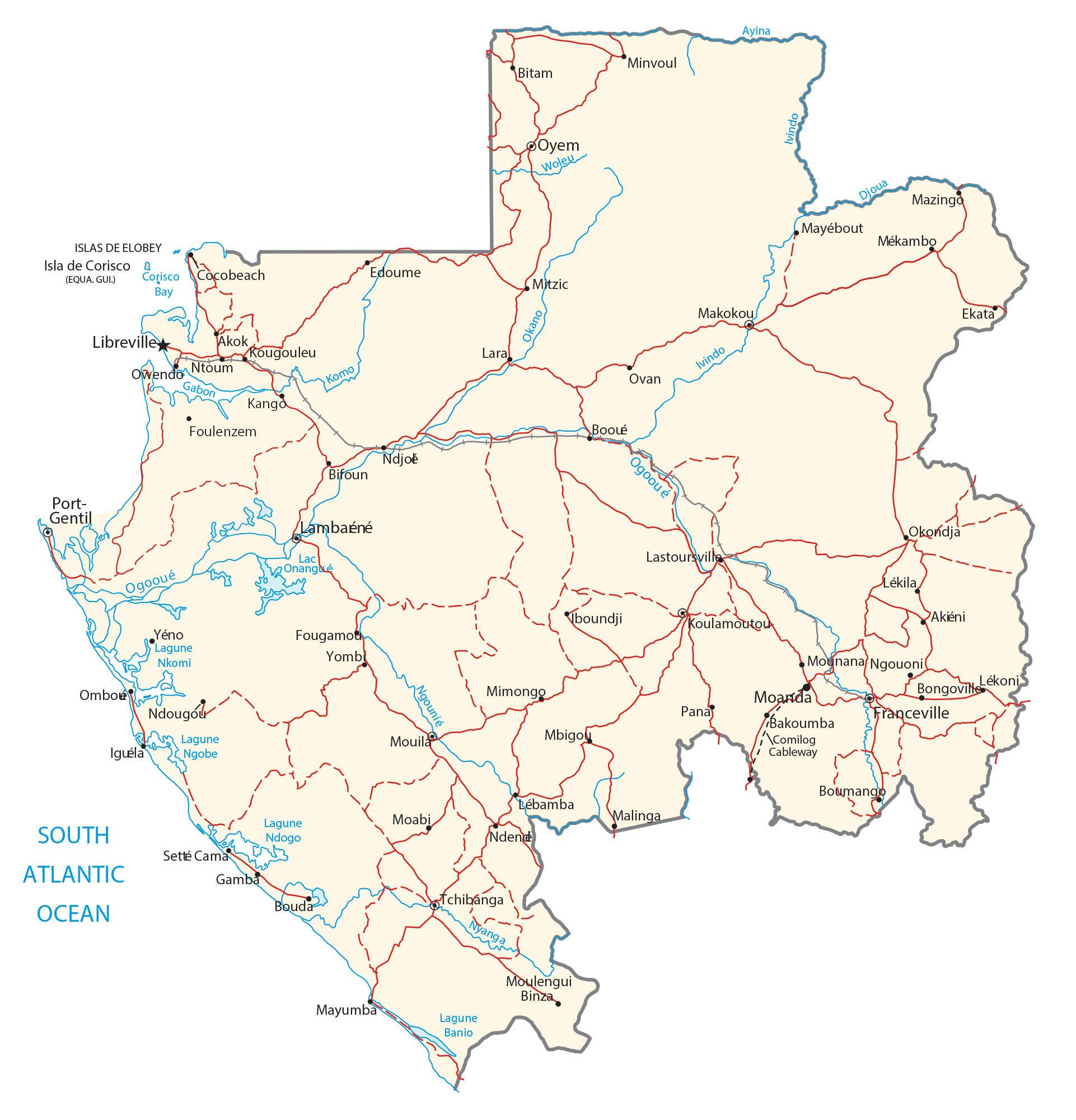 Gabon Map