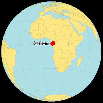 Gabon World Map
