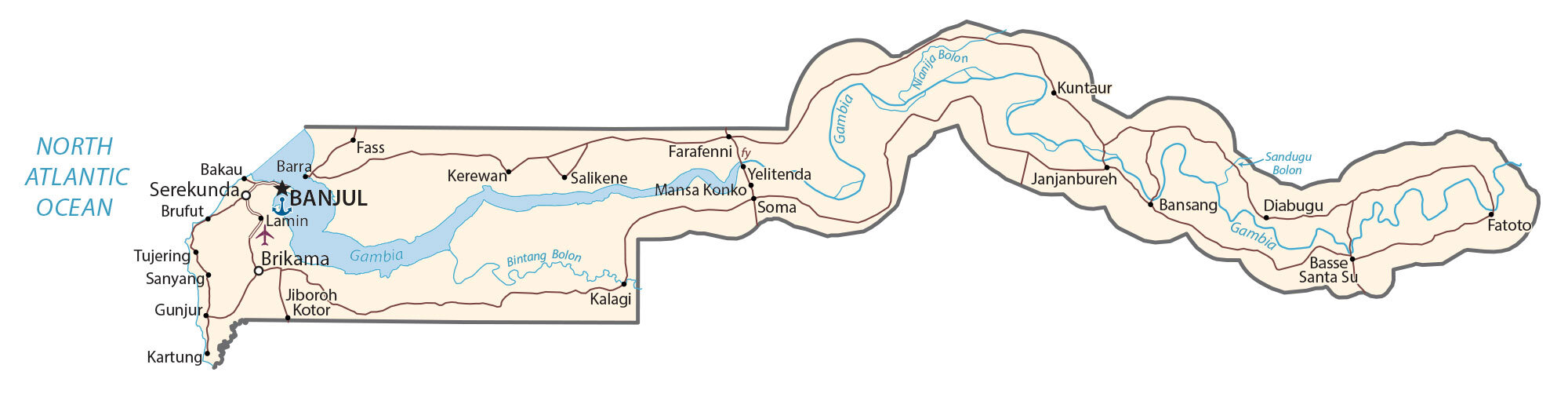 Gambia Map