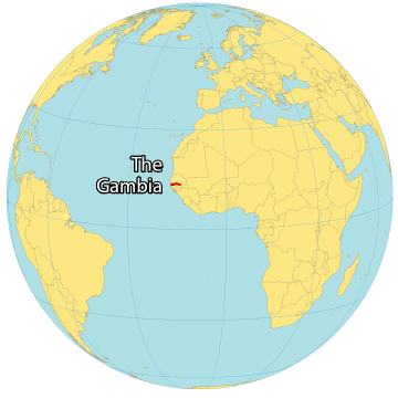 Gambia World Map