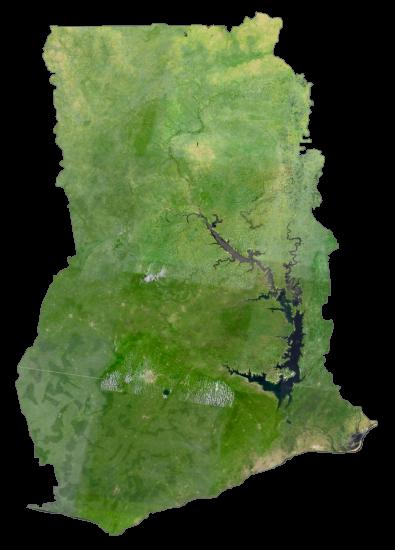 Ghana Satellite Map