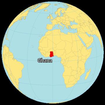 Ghana World Map