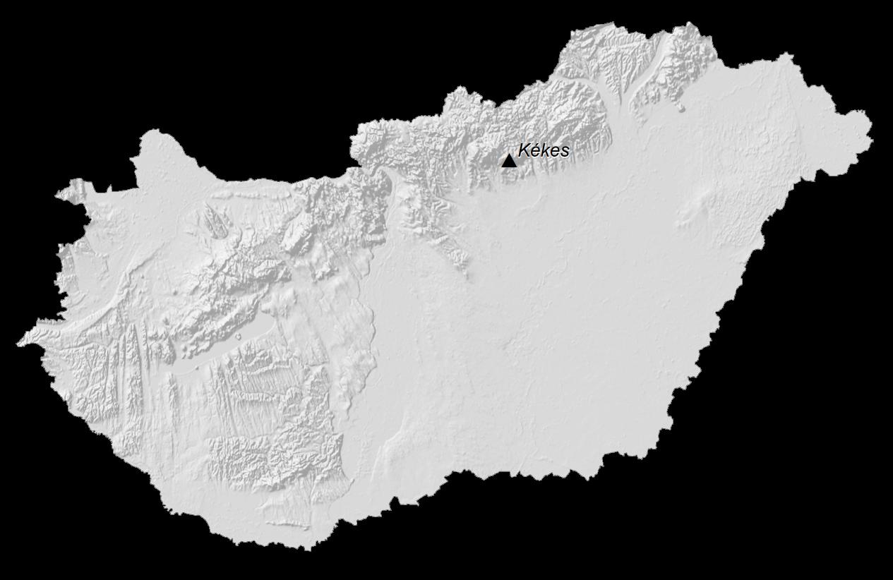 Hungary Elevation Map