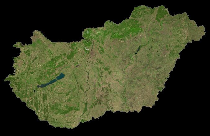 Hungary Satellite Map