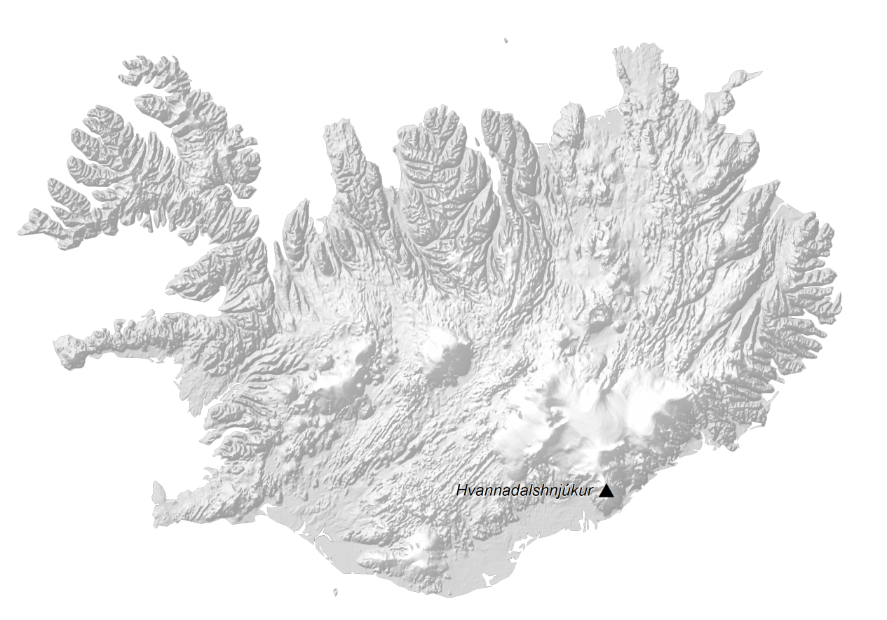 Iceland Elevation Map