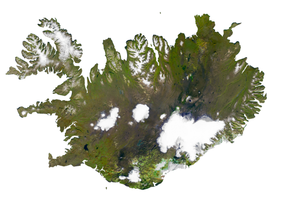 Iceland Satellite Map