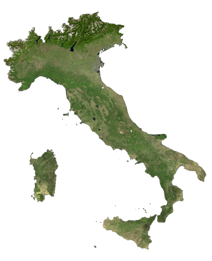 Italy Satellite Map