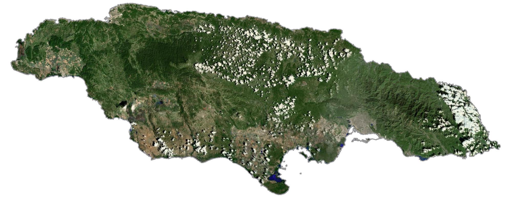 Jamaica Satellite Map