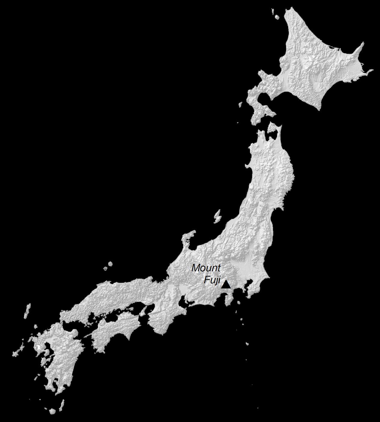 Japan Elevation Map