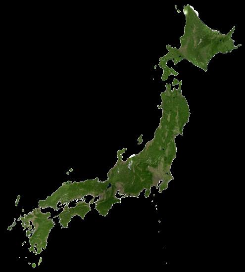 Japan Satellite Map