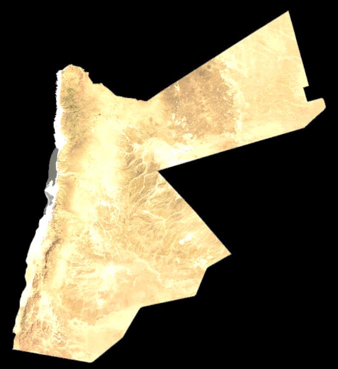 Jordan Satellite Map