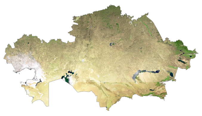 Kazakhstan Satellite Map