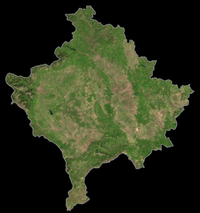 Kosovo Satellite Map