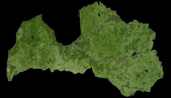 Latvia Satellite Map