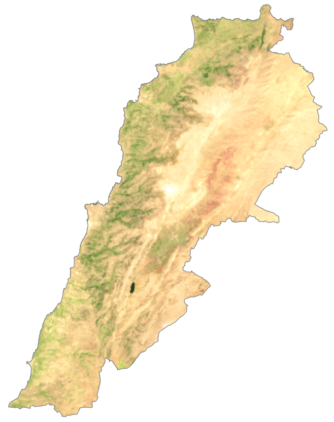 Lebanon Satellite Map