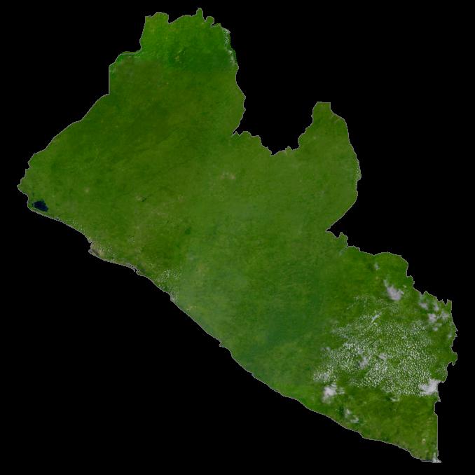 Liberia Satellite Map