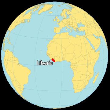Liberia World Map