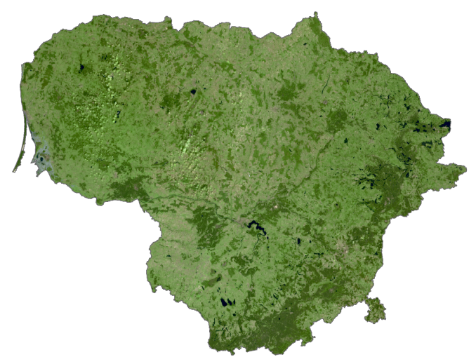 Lithuania Satellite Map
