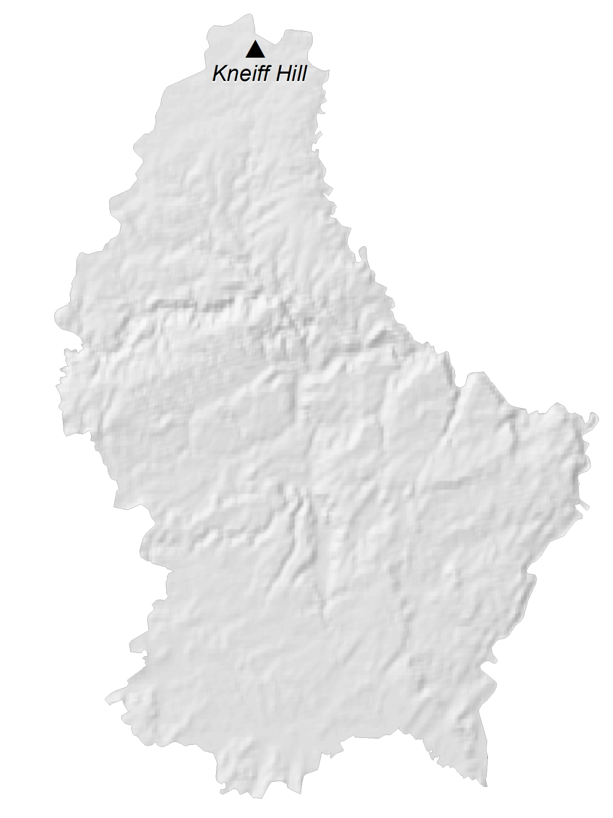 Luxembourg Elevation Map