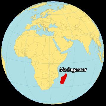 Madagascar World Map
