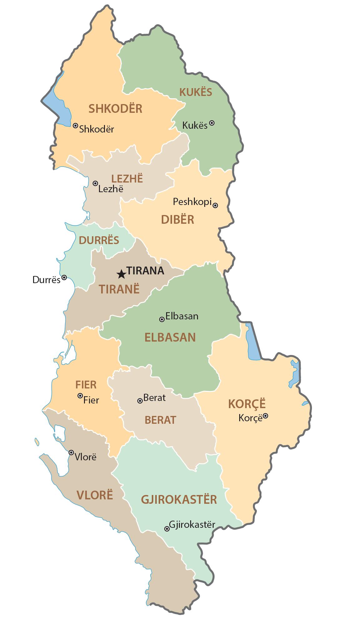 Albania Administration Map