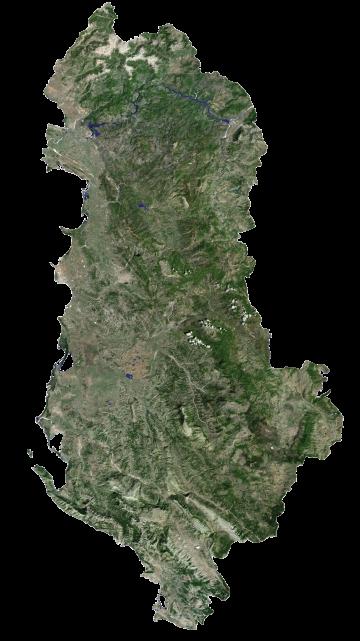 Albania Satellite Map
