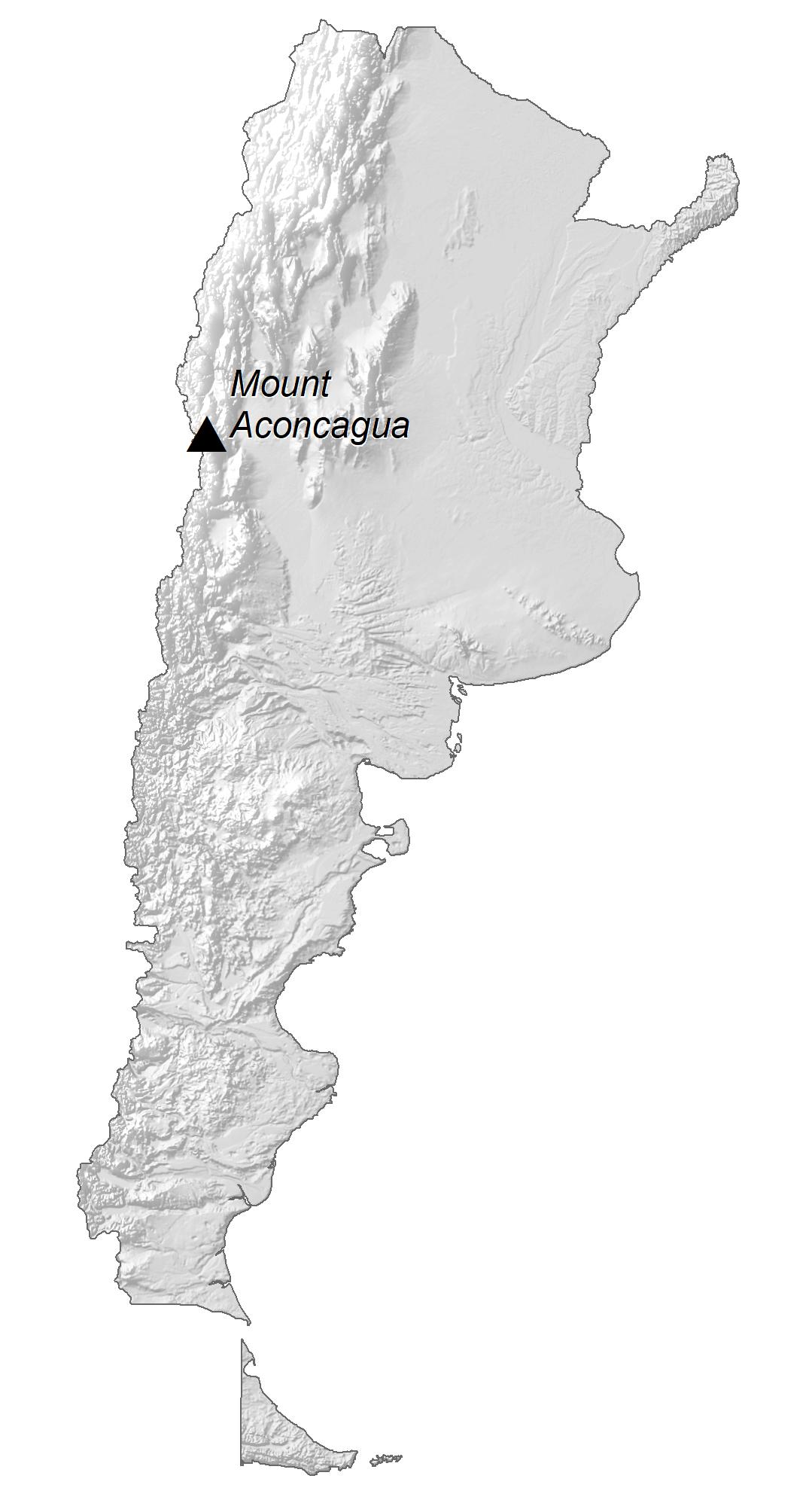 Argentina Elevation Map
